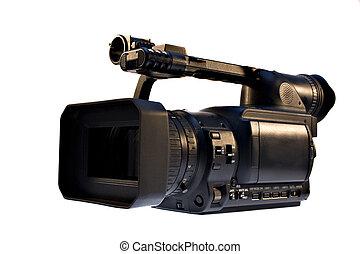 vídeo, leva, digital