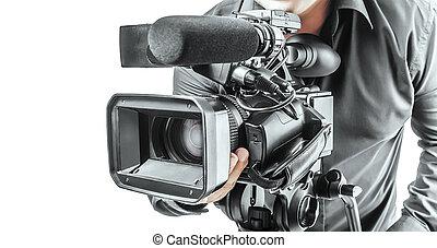 vídeo, operador