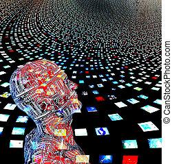 vídeo, pantallas, y, hombre, creado, entrily, de, mi,...