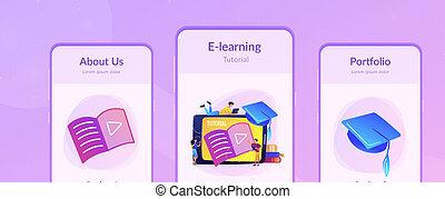 vídeo, preceptoral, app, interfaz, template.