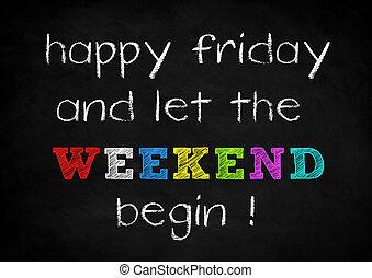 víkend, šťastný