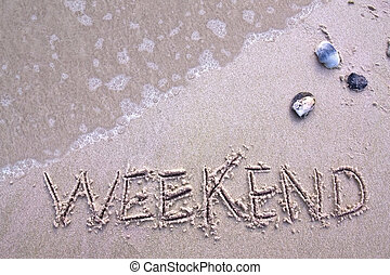 víkend, pláž