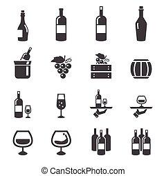 víno, ikona