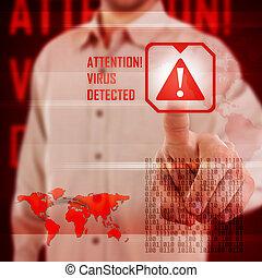 vírus, alerta