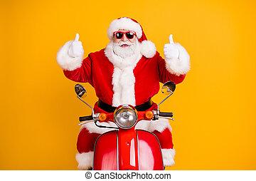 vívido, alegre, equitación, ciclomotor, brillo, actuación, ...