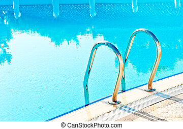 víz, ólmozás, lépések, visszaverődés, pocsolya