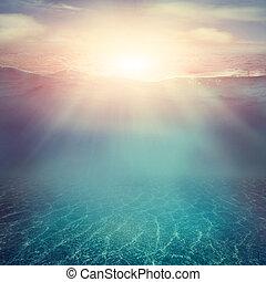 víz alatti, háttér