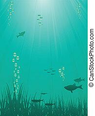 víz alatti, sence