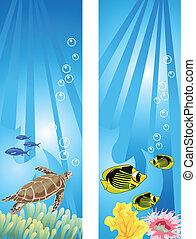 víz alatti, színhely
