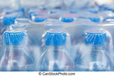 víz, beburkol, palack, műanyag