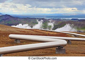 víz, csővezeték, csípős