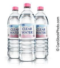 víz, csoport, ital, palack, műanyag