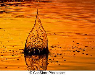 víz, elbocsát