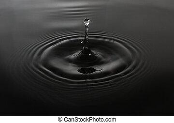 víz, elvont, csepp, háttér
