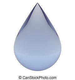 víz, esés, csepp, világos