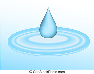 víz, esés, cseppecske, 3, tócsa