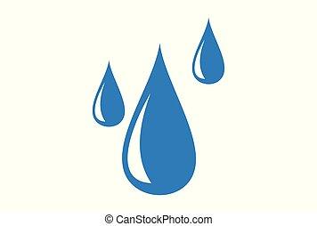 víz esik, jel, ikon, fogalom
