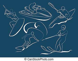 víz, extreme sport