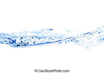 víz, fehér, loccsanás, elszigetelt