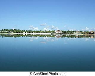 víz, florida, tengerpart táj