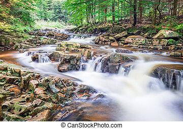 víz, hegy, tele, folyó, kitakarít