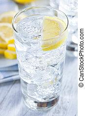 víz, hideg, citrom, felfrissítő, jég