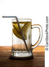 víz, hideg, citrom