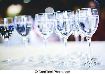 víz, ivás, tiszta, szemüveg
