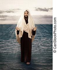 víz, jézus, jár