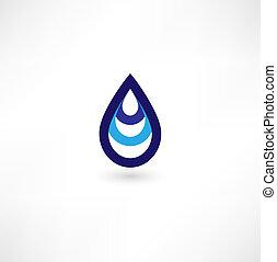 víz, jelkép, csepp
