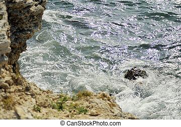 víz, képben látható, egy, megkövez
