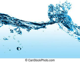 víz, lenget