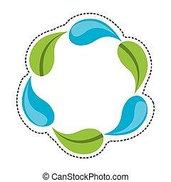víz letesz, és, levél növényen, berendezés