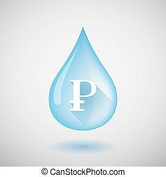 víz letesz, aláír, ruble