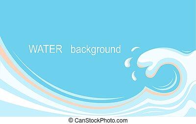 víz, loccsanás, háttér, helyett, szöveg