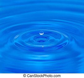 víz, makro, esés, csepp, water.