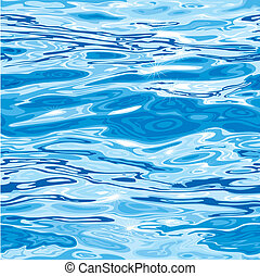 víz példa, seamless, felszín