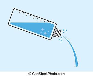 víz palack, önt