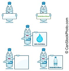 víz palack, 4, gyűjtés, műanyag