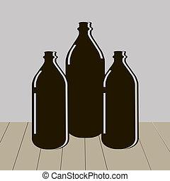 víz palack, három