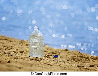 víz palack, homokos, lesiklik