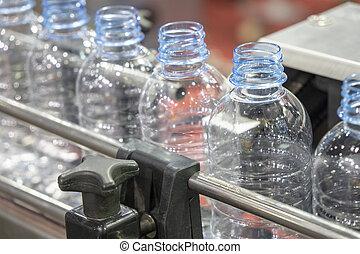 víz palack, kézbesítő, belt.