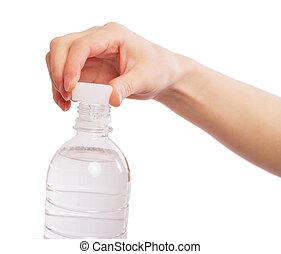 víz palack, kézbesít