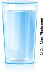 víz pohár, elszigetelt, kitakarít