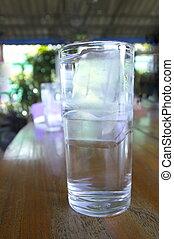víz pohár, hideg