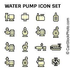 víz pumpa, ikon