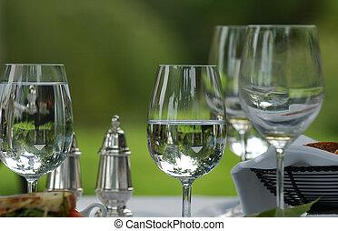 víz, szemüveg