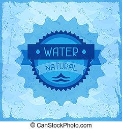 víz, természetes, háttér, alatt, retro, style.