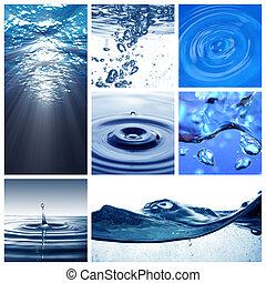 víz, themed, kollázs