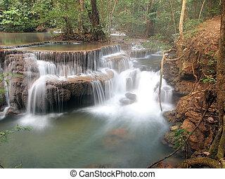 víz, vízesés, mindenfelé, folyó